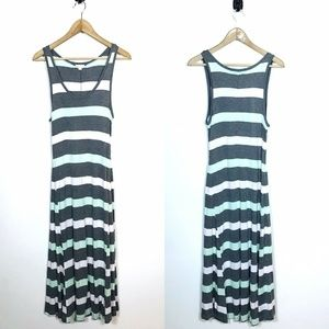 Womens GAP Medium Striped Maxi Dress Racerback